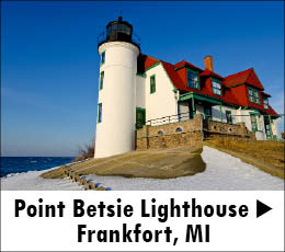 Point Betsie Lighthouse near Frankfort Michigan